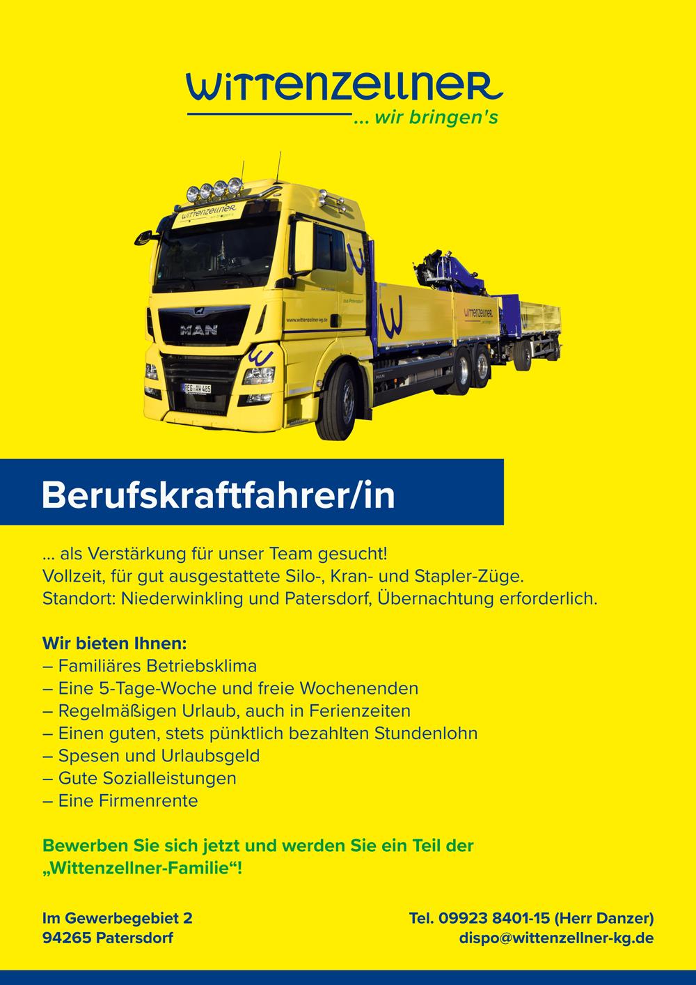 Fahrer-Job-Stellenanzeige